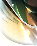 Vector multicolored abstract wave template backgro Stock Image