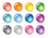 Vector multicolored aqua orbs Stock Photos