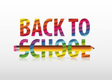 Vector multicolored Back to School text Royalty Free Stock Images