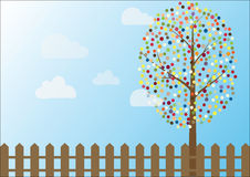 Vector of multicolored circles tree Royalty Free Stock Photography