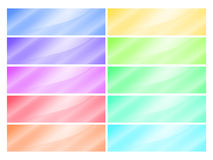 Vector multicolored glossy rectangular banner Stock Image