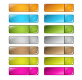 Vector multicolored glossy rounded square buttons Stock Images