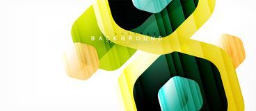 Vector multicolored hexagons geometric abstract background. Modern illustration vector illustration