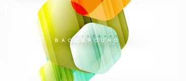 Vector multicolored hexagons geometric abstract background. Modern illustration royalty free illustration