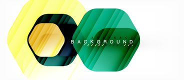 Vector multicolored hexagons geometric abstract background. Modern illustration stock illustration