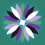 Vector multicolored madeliefje met kleurrijke bloembloemblaadjes vector illustratie