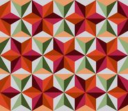 Vector multicolored mosaic with geometric flowers. Stock Image