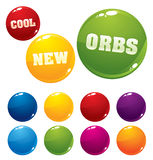 Vector multicolored orbs. Very shiny and glossy for your business artwork Royalty Free Stock Photos