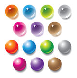 Vector multicolored orbs Royalty-vrije Stock Afbeeldingen