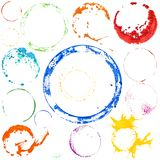 Vector multicolored paint circles Stock Photography