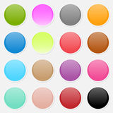 Vector multicolored paper stickers Stock Images