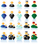 Vector multicolored people ico Royalty Free Stock Photos