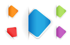 Vector multicolored rounded square notes vector illustration