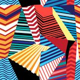 Vector multicolored geometric pattern Stock Photos