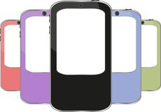 Vector multicolored smart phone set Royalty Free Stock Photo