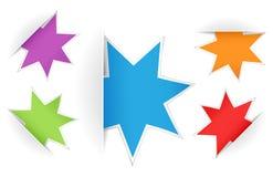Vector multicolored star notes Stock Photos