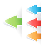 Vector multicolored tag arrow label Stock Photo