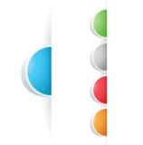 Vector multicolored Tag Label Stock Photos