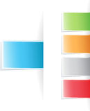 Vector multicolored tag label Royalty Free Stock Photography