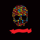 Vector   multicolour Ribbon Skull vector Stock Photos