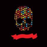 Vector   multicolour Ribbon Skull vector Stock Photos