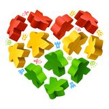 Concept of love by board games Royalty Free Stock Images
