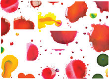 Vector Multicoloured Paint Splats and Blobs Royalty Free Stock Photos