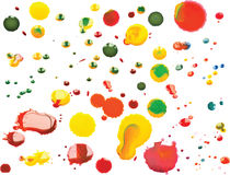 Vector Multicoloured Paint Splats and Blobs. Vector Colourful Multicoloured Paint Splats and Blobs Royalty Free Stock Photography