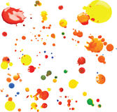 Vector Multicoloured Paint Splats and Blobs Royalty Free Stock Photo