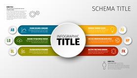 Vector multifunctioneel Infographic-malplaatje royalty-vrije illustratie