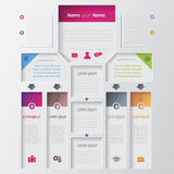 Vector multilevel infographic design Royalty Free Stock Photo