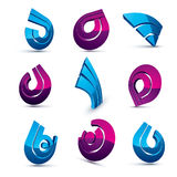 Vector multimedia signs collection isolated on white background. 3d colorful abstract design elements, can be used in web and graphic design and as marketing stock illustration