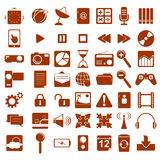 Vector Multimedia Symbols. Plan symbols for business use Stock Photography