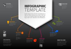 Vector multipurpose Infographic template Royalty Free Stock Images