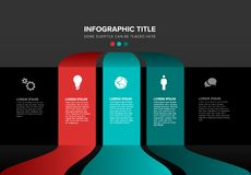 Vector multipurpose Infographic template stock photography