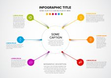 Vector multipurpose Infographic template stock illustration