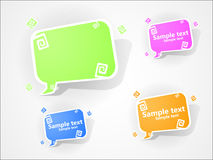 Vector multucolored bubbles for speech. EPS 10. Stock Image