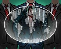 Vector mundial internacional del equipo del negocio de la red Imagenes de archivo