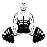 Vector muscle man bodybuilder Stock Images