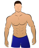 Vector muscle man Royalty Free Stock Images