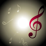 Vector music background Stock Photography
