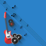 Vector Music Background in Flat style design Stock Photography