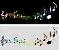 Vector music background with notes Stock Images