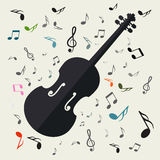 Vector Music Background Royalty Free Stock Images