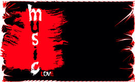 Vector music banner Stock Photo