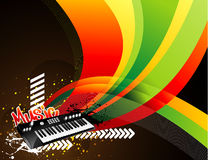 Vector music city illustration Royalty Free Stock Image