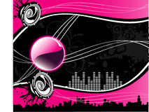 Vector music city illustration Stock Images