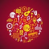 Vector music concept Royalty Free Stock Images