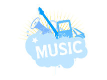 Vector music design elements vector illustration