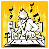 Vector Music DJ Stock Images